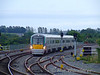 On its maiden passenger journey 22044 arrives at Portarlington with the 1710 Heuston - Athlone. Mon 07.09.09