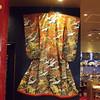 Kimono on display by Sushi restaurant at Narita Airport
