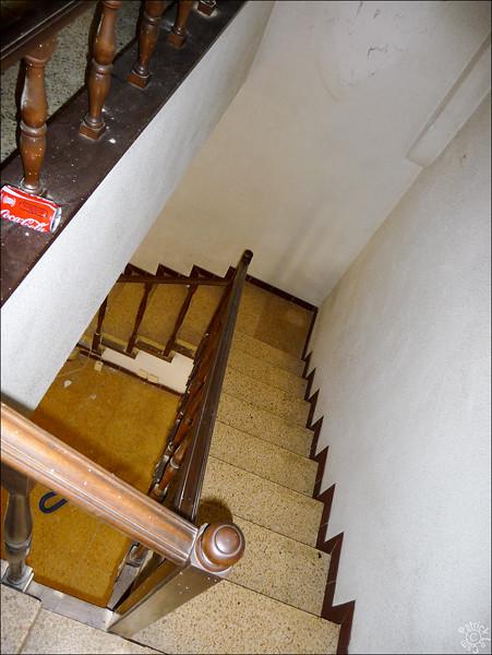 Vue depuis le haut des escaliers