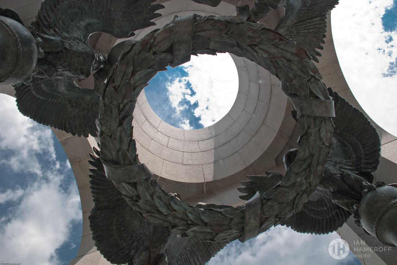 Looking Skyward Through the Arch