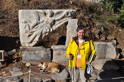 2010-10-31  294  Ephesus - Veronica and a High Relief Plaque of Nike, and a Sleeping Dog