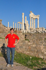 2010-10-25  103  Jay at the Acropolis of Assos, the Temple of Athena in the Background