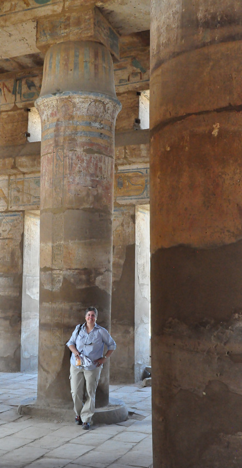 2010-11-13  176  Major Temple of Amun (Karnak) - Veronica in the Great Vestibule of the 'Heret-ib', Part of the Festival Temple of Tuthmosis III