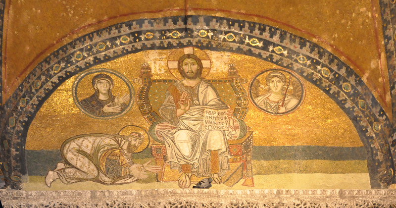 2010-10-28  097  Mosaic of Christ, in the Hagai Sophia