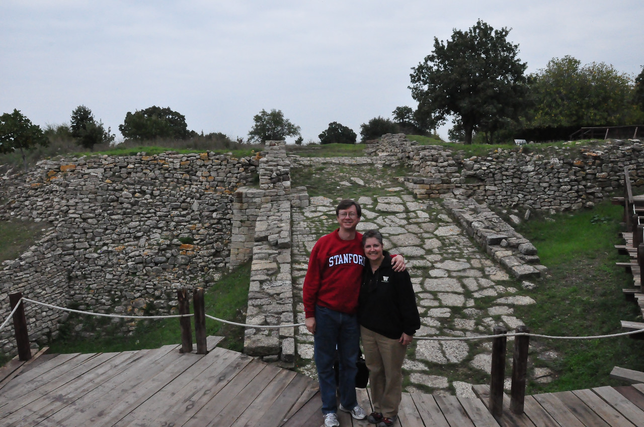 2010-10-25  300  Jay and Veronica Standing in Front of the Great Ramp of Troy II
