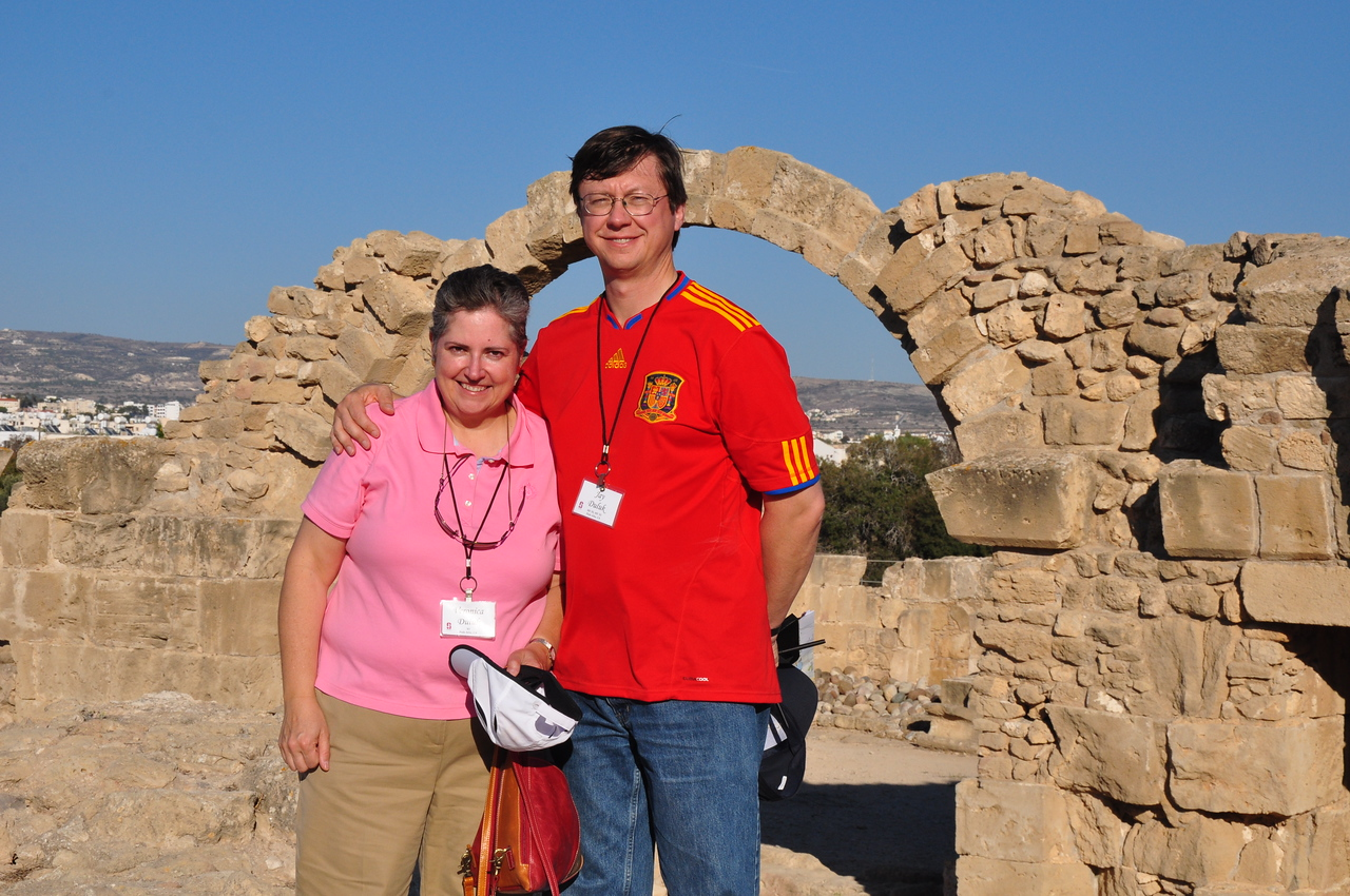 2010-11-03  232  Cyprus - Veronica and Jay, at the 8th Century Byzantine Fortress at Paphos
