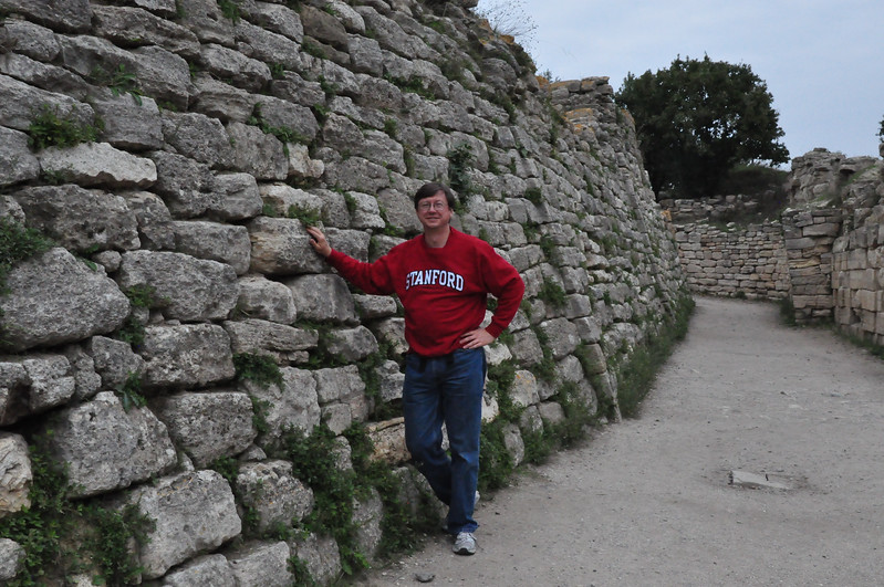 2010-10-25  212  Jay, Standing at the Wall of Troy VI, the Eastern Gate Behind