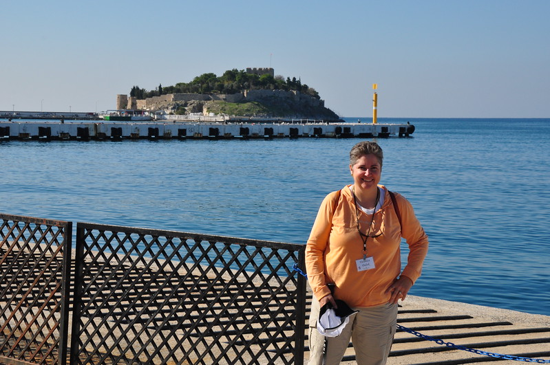 2010-10-31  660  Veronica and a 16th Century Fort, in Kusadasi, Turkey