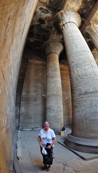 2010-11-11  345  Edfu - Veronica in the Inner Hypostyle Hall