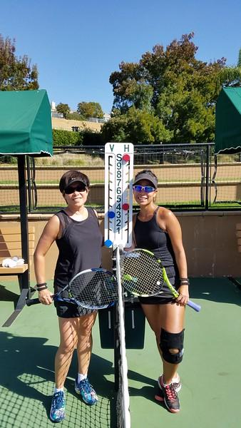 2017-10 SCVCC Aline and Vivien tennis