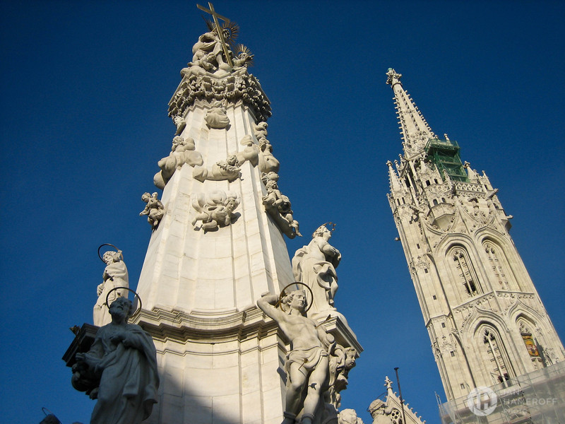 Trinity Column and Matthias Church