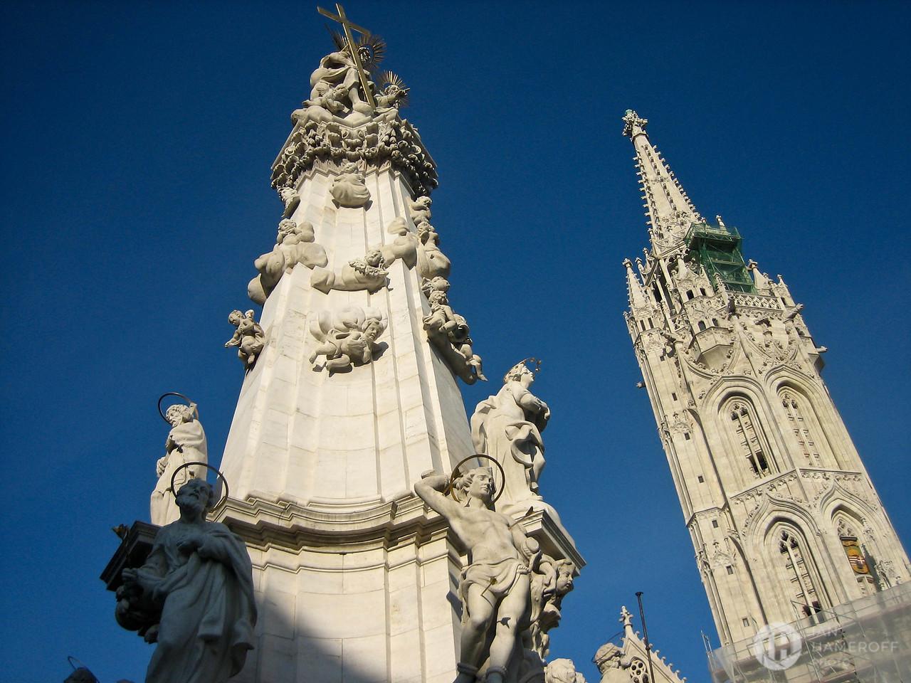 Trinity Column and Matthias Church
