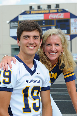 PCA Senior Football Players and Moms 2010