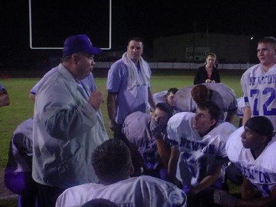 "After the defeat of Bridge City in '01, Coach tells 'em, ""You are the District Champions""."