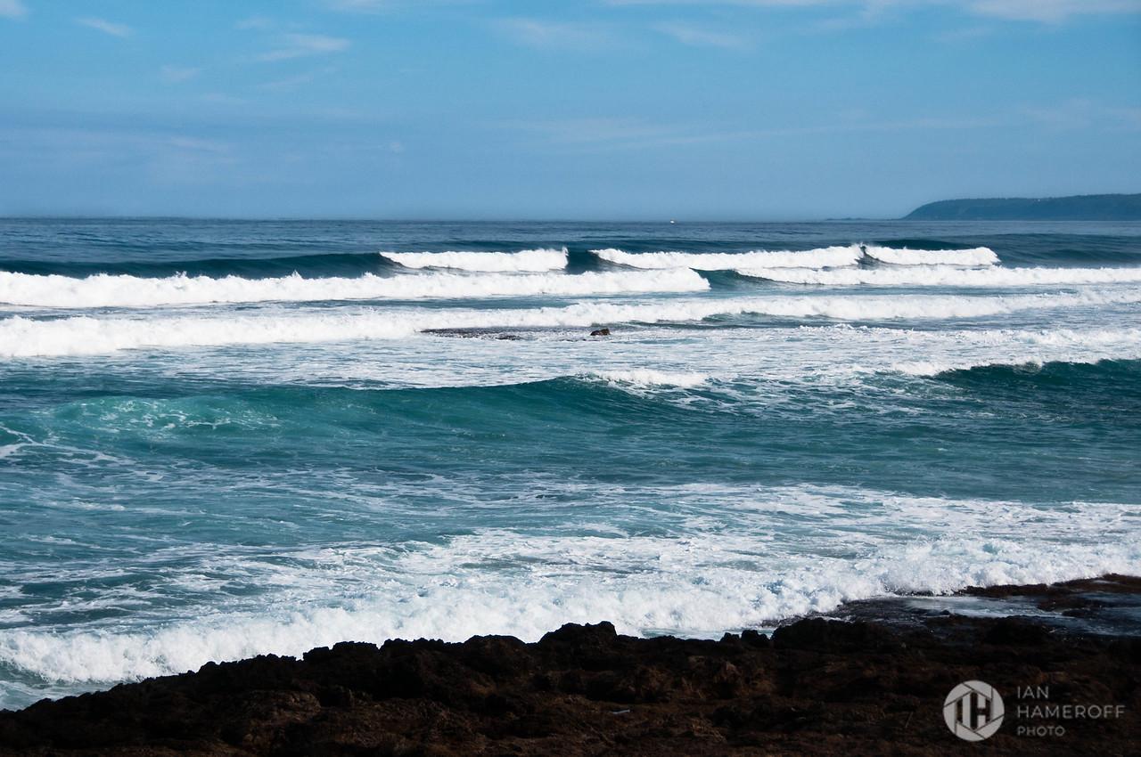 Surf Crashing on the North Shore