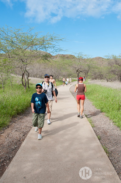 At the Start of the Diamond Head Trail