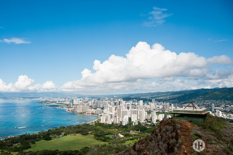 Waikiki Beach from Diamond Head Summit