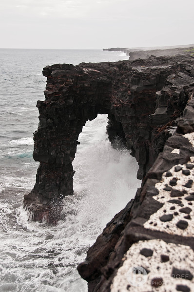 Angry Seas Against the Holei Sea Arch