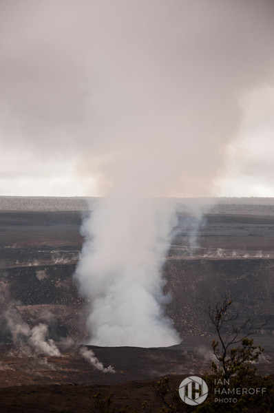 Smoke Billows from Halemaʻumaʻu Crater