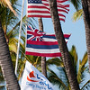 Three Flags Over Anaehoomalu Bay