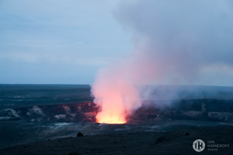 Halemaʻumaʻu Crater at Dusk
