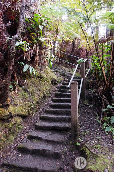 Stairway to Kīlauea Iki Overlook