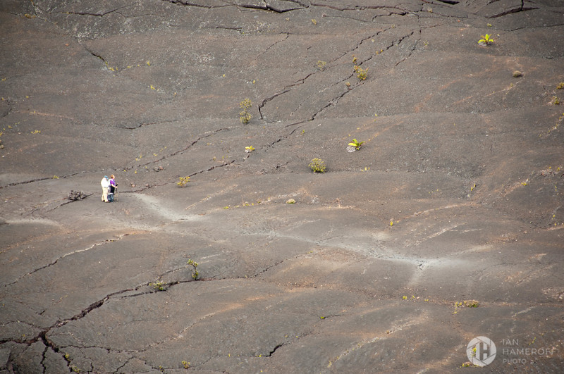 Hikers in the Crater
