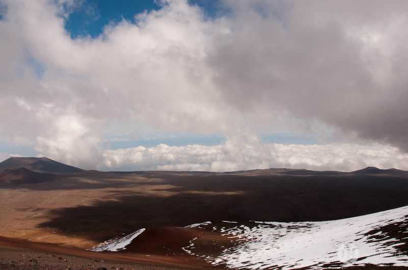 Looking Out from the Summit at Mauna Kea