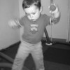 A blur as he plays with balls at OMSI