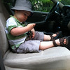 Absolute favorite activity at 18 months -- playing in the car