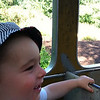 Train ride at the zoo - one of Nate's very favorite things in the world right now.