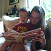 "Favorite book, ""The Little Train,"" with Auntie T"