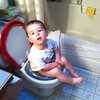 First time on the potty!