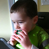 "Best surprise ever - package of ""Christmas cookies"" from Auntie K!  Nate ate most of them in one sitting..."
