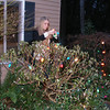 Auntie T and Ryan helped us to put up our Christmas lights!