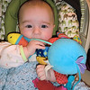Favorite carseat toy - the octopus!