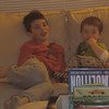 Liam & Nate snuggle on the couch and Liam patiently watches Thomas with Nate