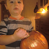 Decorated pumpkin by Nate