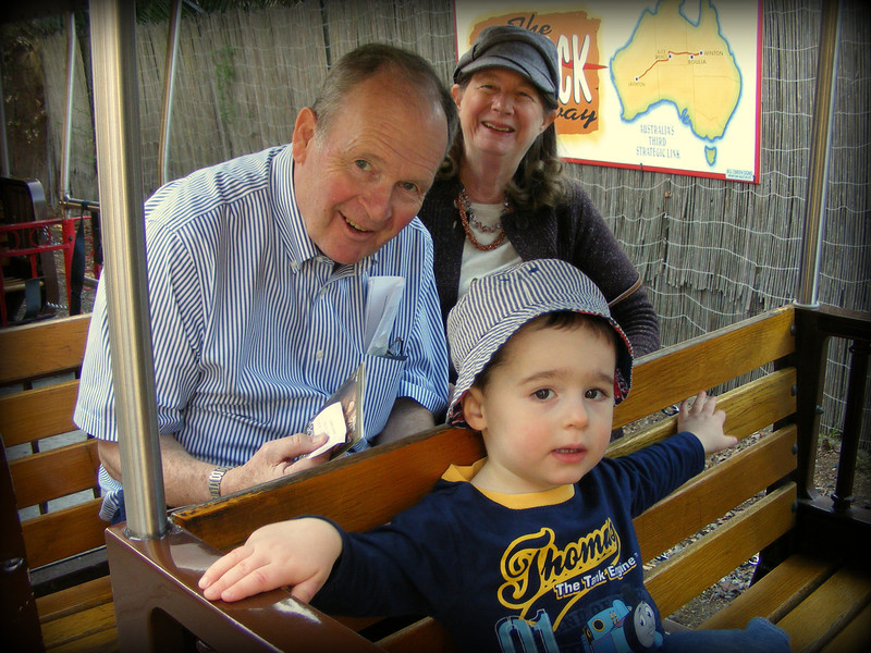 Train at the Oakland Zoo with Nonni and Papa.