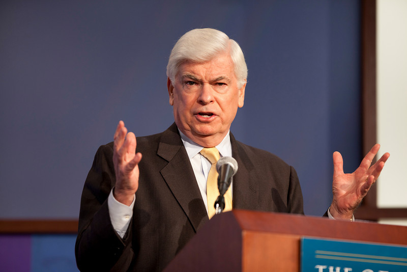 January 14, 2011 | The Shape of Things to Come: Deciphering the Dodd-Frank Financial Regulatory Reform Act.<br /> <br /> Former Senator Christopher J. Dodd of the state of Connecitut.<br /> <br /> (photo by Jessica McConnell)