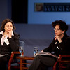January 14, 2011 | The Shape of Things to Come: Deciphering the Dodd-Frank Financial Regulatory Reform Act.<br /> <br /> Left to right: Annamarie Lusardi, Professor of Accountancy and Economics, The George Washington University and Anna Gelpern, Associate Professor of Law, American University.<br /> <br /> (photo by Jessica McConnell)