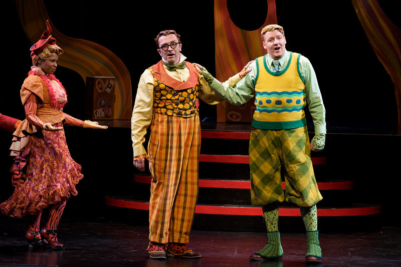Yolanda London, Dwayne Hartford, and D. Scott Withers in Childsplay's <i>A Year With Frog and Toad</i>. Photo Credit: Heather Hill