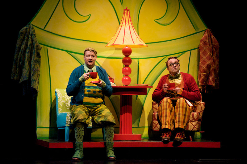 D. Scott Withers and Dwayne Hartford in Childsplay's <i>A Year With Frog and Toad</i>. Photo Credit: Heather Hill