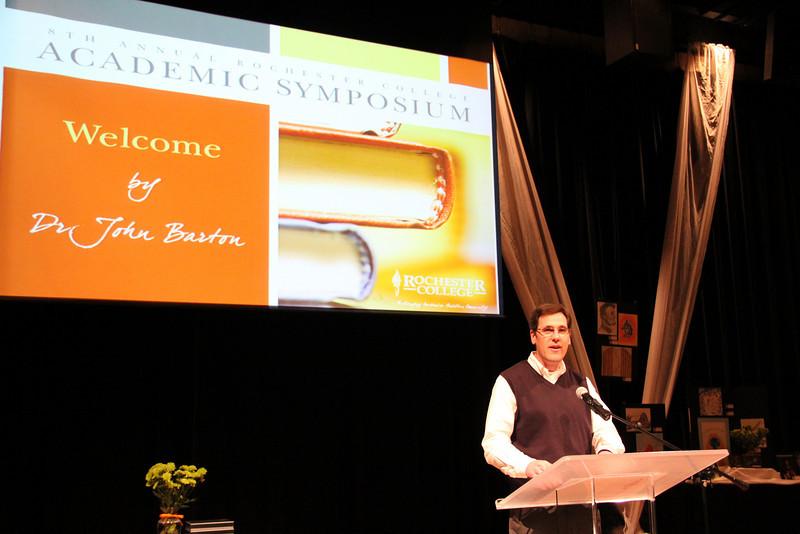 Opening Remarks: Dr. John Barton