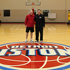 Coach John Kuester and Coach Garth Pleasant at the Pistons Practice Facility Fall of 2010