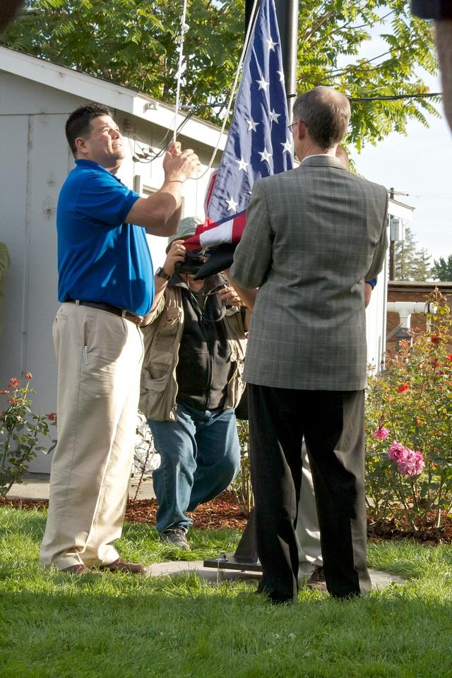 10-12-10 Veterans Assn. Flag Raising
