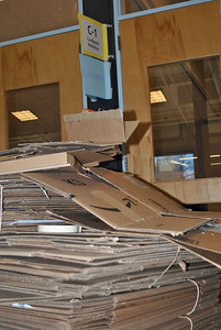 Cardboard in waiting for teams for the Cardboard workshop at NH-DI Team Member training.