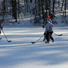 Hockey on Lake Norcentra. December 14, 2010