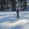 Hockey on Lake Norcentra. December 14, 2010