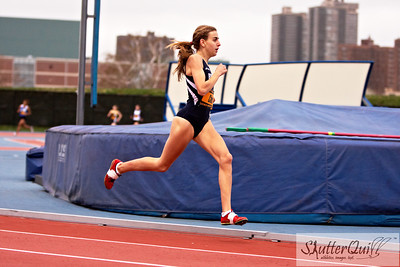 April 16, 2011. Icahn Stadium, Randall's Island, NY USA -- New York Relays Outdoor 2011.  Freshmen Mary Cain sprints the last 100m of her 800m race to finish in first place, 2:06.44, making her #1 in New York State, and #4 in the United States.